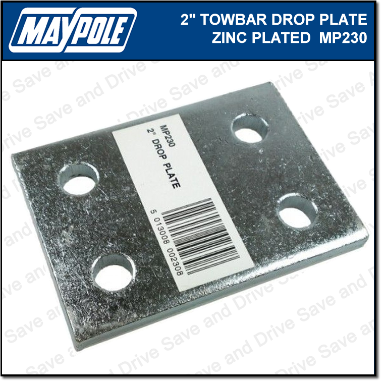 "Maypole Towball 2"" Inch Zinc Drop Plate Towbar Towing Trailer Caravan MP230 2"