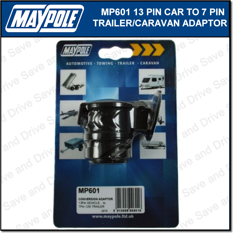 Maypole 13 Pin - 7 Pin Conversion Adaptor Towing Trailer Caravan Connector MP601