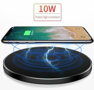 Fast Qi Wireless Charger Dock For iPhone X 8 plus XR XS Samsung S8 S9 plus Note9 2