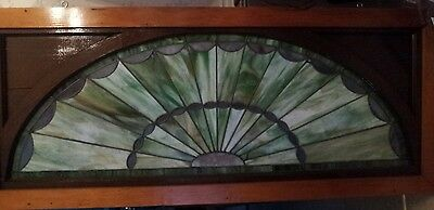 Vintage X-Large Early Centry Arched Stained Glass Window 4