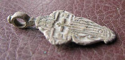 Antique Artifact > 18th-19th C Bronze Russian Orthodox Baptism Cross AA40-9 5