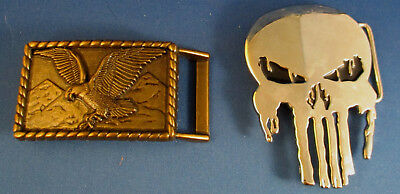 Lot of 8 Vintage Belt Buckles Wolf, Bullet, Cadillac, Eagle and more 6