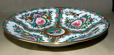 Other Asian Antiques Antique Hand Painted Chinese Famille Rose Shallow Dish Asian Antiques
