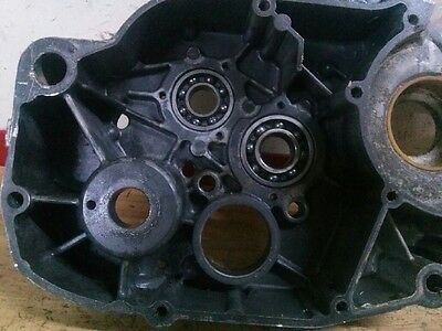 1976 Can-Am Can Am Bombardier MX2 125 left side engine case crankcase 6