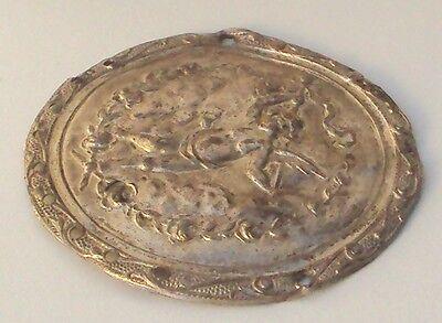 Pompous Post Medieval Silver Plated Angel Applique # 832 3 • CAD $56.61