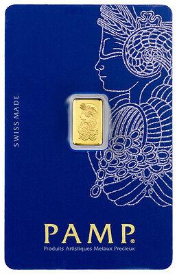 PAMP Suisse 1 Gram .9999 Gold Bar Fortuna Sealed With Assay Certificate SKU26583