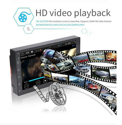 """Android 8.1 Car Stereo GPS Navigation Radio Player Double Din WIFI 7"""" 8"""