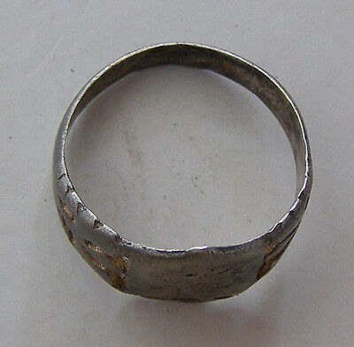 ANCIENT Rome Byzantium Sterling Silver Mens Ring Stamp 5-6 century #AR589-593 5