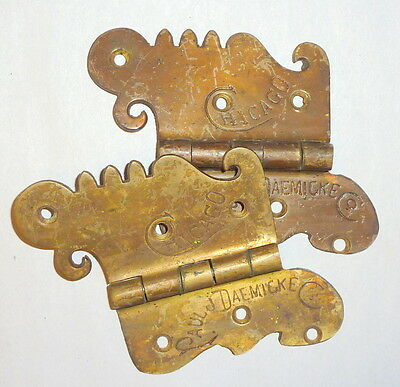 "4 Antique 6"" Victorian Era Bronze Ice Box Hinges - Chicago - Paul Dacmicke"