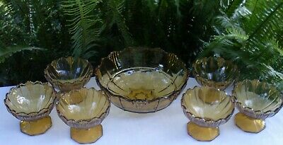 RARE Antique 1920's SOWERBY England HUMPHREY AMBER BOWLS SET VG Collectable Aust 4