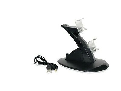 LS LED Charger Dual Ladestation Dock Ladegerät für Playstation 3 Controller 3