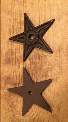 "Cast Iron Center Hole Star Anchor Plates Rustic Large 6 1/2"" wide 0170-02106 4"