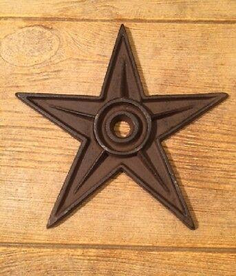 "Center Hole Texas Star Rustic Cast Iron X-Large Decor 9"" (Single) 0170-02105 2"