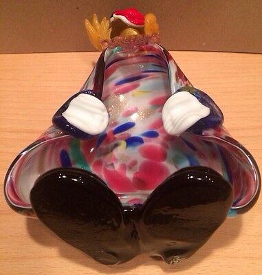 Vintage Murano Italian Art Glass Clown Figurine Bowl - Hand Blown 3