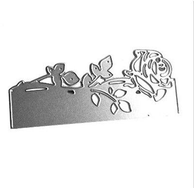 Stanzschablone Blume Rose Weihnachten Hochzeit Oster Neujahr Karte Album Deko