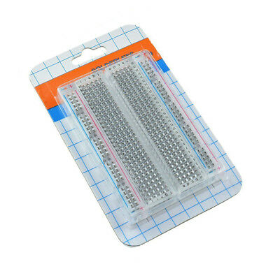 Mini Solderless Breadboard Transparent Material 400 Points Available DIY ATF 3