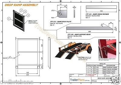 Trailer Plans - TILT FLATBED CAR TRAILER PLANS (14x6ft) - 2500kg - PLANS ON USB 12