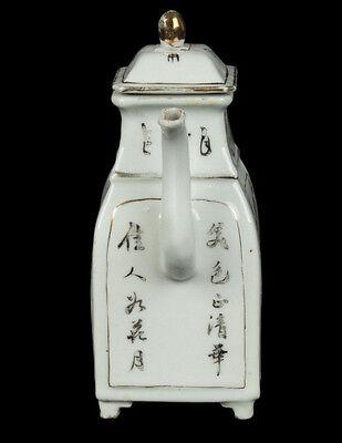 China 19. Siglo Tongzhi Tetera -a Chino Famille Rosa Tetera - Chinois Cinese 5
