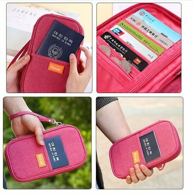 Travel Wallet Passport Holder Credit Card Case Document Ticket Organizer Bag 3
