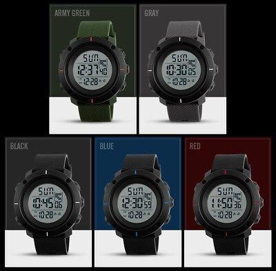 Fashion Men's LED Date Waterproof Digital Quartz Military Army Sport Wrist Watch 2