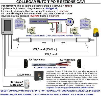 Schema Elettrico Cancello A Due Ante.Motore 220 V Corsa 300 Mm Cancello Elettrico Ricambio Compatibile Came Bft Faac