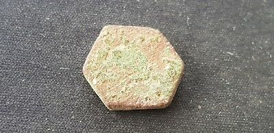VR. Indeed tiny Medieval copper alloy coin weight Please read description. L107s 4