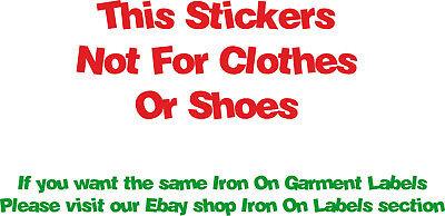 50 PERSONALISED VINYL Stick On Name Labels Stickers Tags School Kids  Waterproof