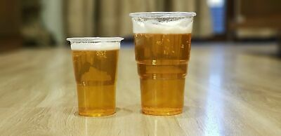 100 X Clear Plastic Pint / Half Pint Cups Disposable Beer Glasses Cups Tumblers 4