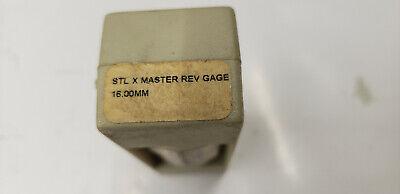 Vermont 161208310 STL X Master Rev. Round Gage Block 16.00mm.  shelf-t3 blue#2 2