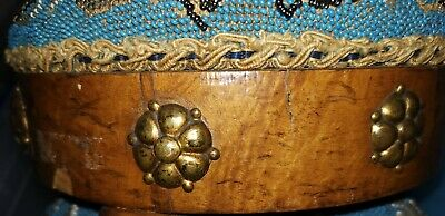 A Pair Of Antique Beaded Foot Stools 9