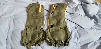 German Army Issued Goretex Extreme Cold Weather Fur Lined Mitts In Olive Grade 1