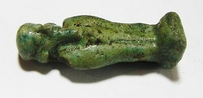 Zurqieh - As4580- Ancient Egypt, Large Faience Ptah Amulet. 600 - 300 B.c