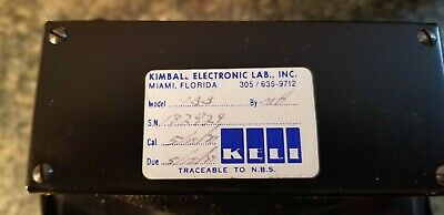 Weston Voltage Meter Model 433 Kimball Electronic Lab, Inc. in Metal Case 7