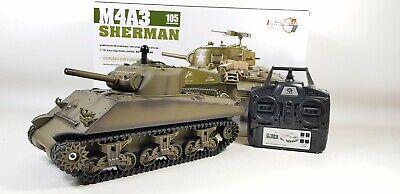 c334df422b93 Upgraded 2.4Ghz Version 6 Heng Long Rc Sherman Tiger Battle Tank Smoke Sound  Bb
