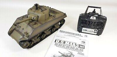 2346f17e7f96 ... RTR Model Heng Long 1 16 M4A3 Sherman Radio Control RC Tank Smoke    Sound
