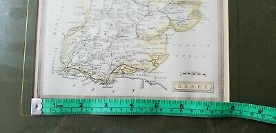 Antique ESSEX England Map Framed c1880 From Harrah's Framed/Glass 8