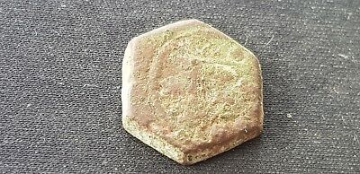 VR. Indeed tiny Medieval copper alloy coin weight Please read description. L107s 3