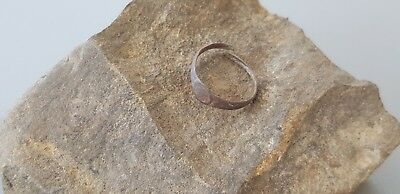 Lovely Post Medieval copper alloy posy type ring  Please read description L493 6