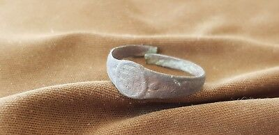 Lovely Post Medieval copper alloy posy type ring  Please read description L493 5