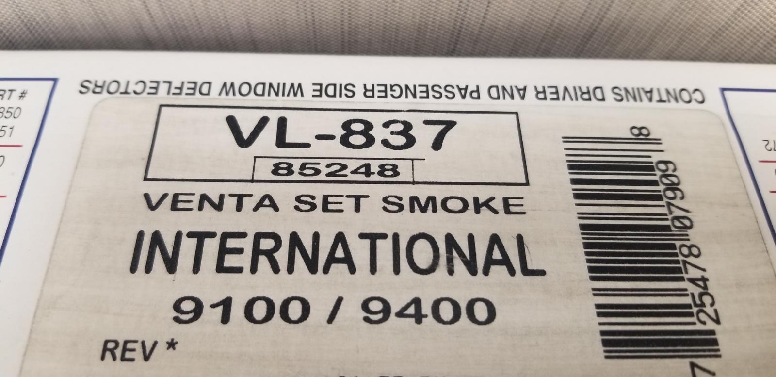 For Peterbilt 389 2008-2019 Belmor VL-863-1 Tape-On Smoke Ventvisors