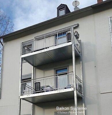 balkon bausatz 3 m x 1 5 m fertigbalkon anbaubalkon stahl. Black Bedroom Furniture Sets. Home Design Ideas