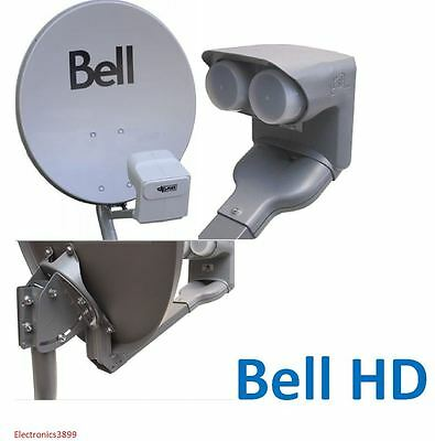 """NEW Dish 500 Bell ExpressVu 20"""" DPP Twin LNB 2"""