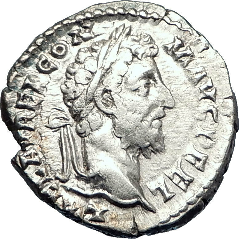 COMMODUS son of Marcus Aurelius 192AD Ancient Silver Roman Coin Liberty i73597 2