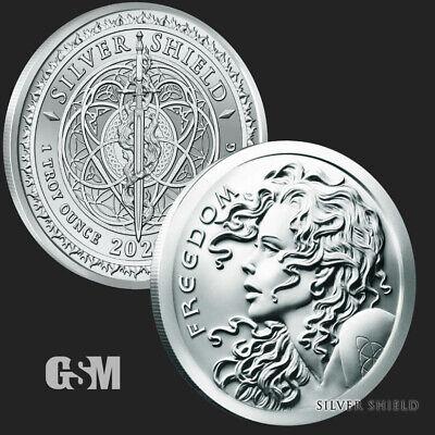 2020 Freedom Girl Silver Shield Silver Round Coin 1 oz .999 Fine SilverBACKORDER 3