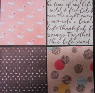 """""""VINTAGE ESCAPE""""   Scrapbooking/Cardmaking Papers X 20 - 15cm x 15cm (6"""" x 6"""")"""