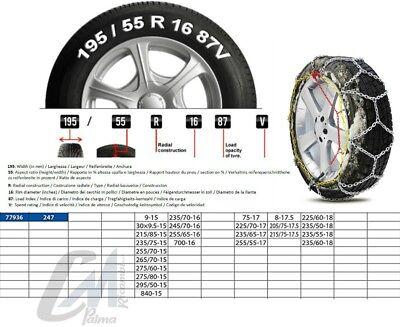 CATENE DA NEVE 4x4 SUV 16MM 275//45-20 CATENE 16 mm