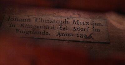 Historic violin by Johann Christoph Merz, Klingenthal 1826   (old, antique 5
