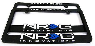 NRG License Plate Frames Genuine universal Set of 2 Gold Edition