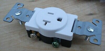 10pcs Single Round Receptacle 20 Amp 20A 125V AC Outlet 2 Pole 3 Wire or 15A LOT 5