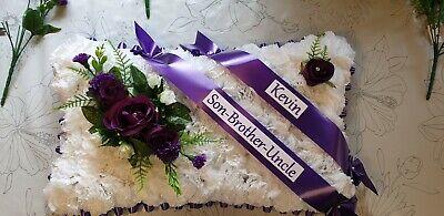 Pillow Shape Silk Artificial Funeral Flowers Wreath/Memorial/Grave/Tribute 20x12 11